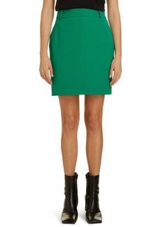 Balenciaga Logo Tab Twill Miniskirt