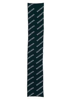 Balenciaga Logo Wool Blend Scarf