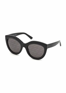 Balenciaga Logomania Shiny Acetate Cat-Eye Sunglasses