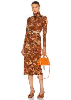 Balenciaga Lone Sleeve Turtleneck Dress