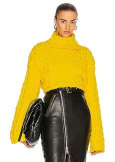 Balenciaga Long Sleeve High Neck Sweater