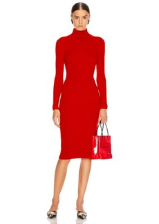 Balenciaga Long Sleeve Turtleneck Dress