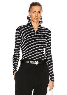 Balenciaga Long Sleeve Zipped Rollneck Top