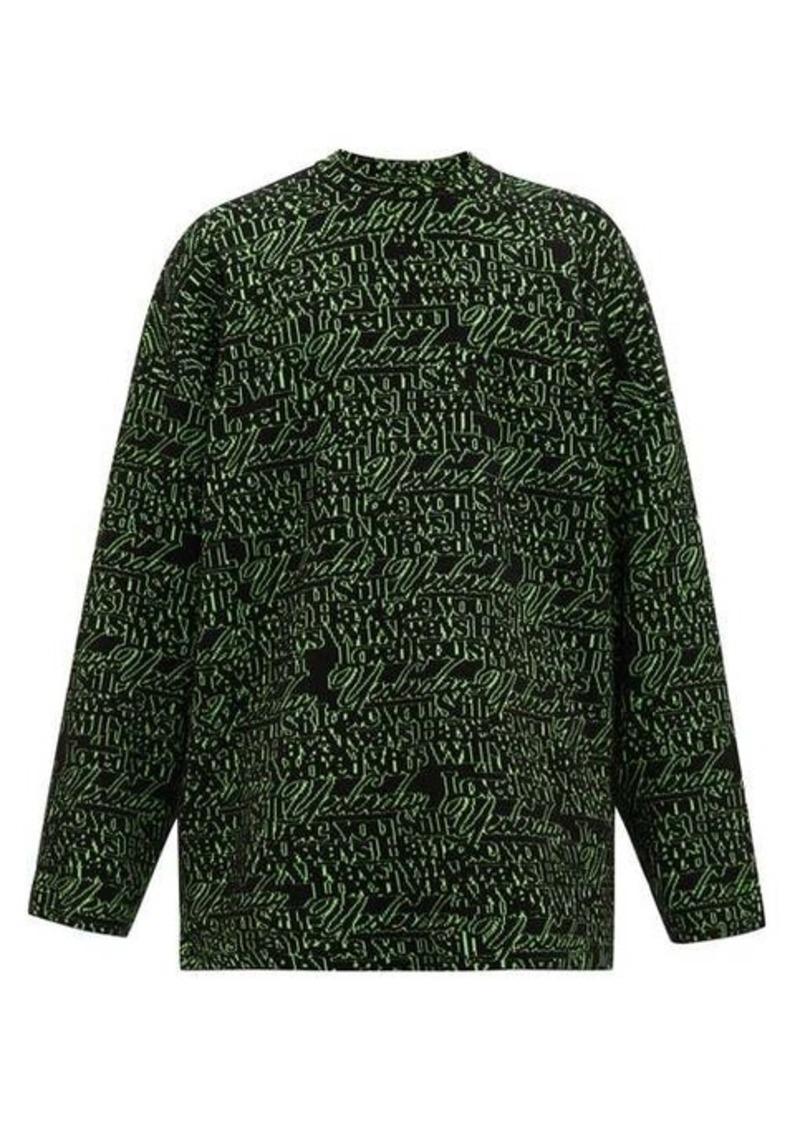 Balenciaga Love-jacquard wool-blend sweater