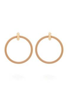 Balenciaga Marble-effect hoop earrings
