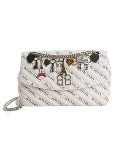 Balenciaga Medium BB Round Logo Charm Crossbody Bag