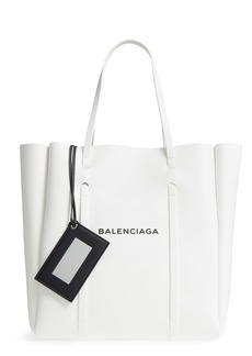 Balenciaga Medium Everyday Logo Leather Tote