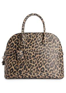 17e0469ddd71 Balenciaga Balenciaga Medium Leopard Print Leather Satchel with Water-Repellent  Coat