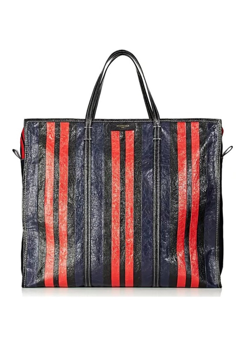 72842a87ee7 Men's Bazar Arena Leather Extra-Large Shopper Tote Bag - Stripe