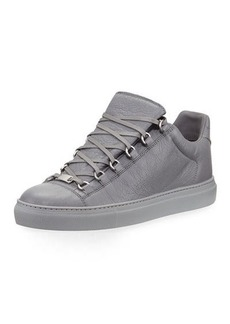 Balenciaga Men's Arena Leather Low-Top Sneakers