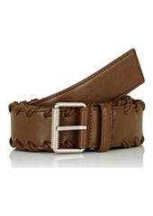 Balenciaga Men's Arena Whipstitched Leather Belt