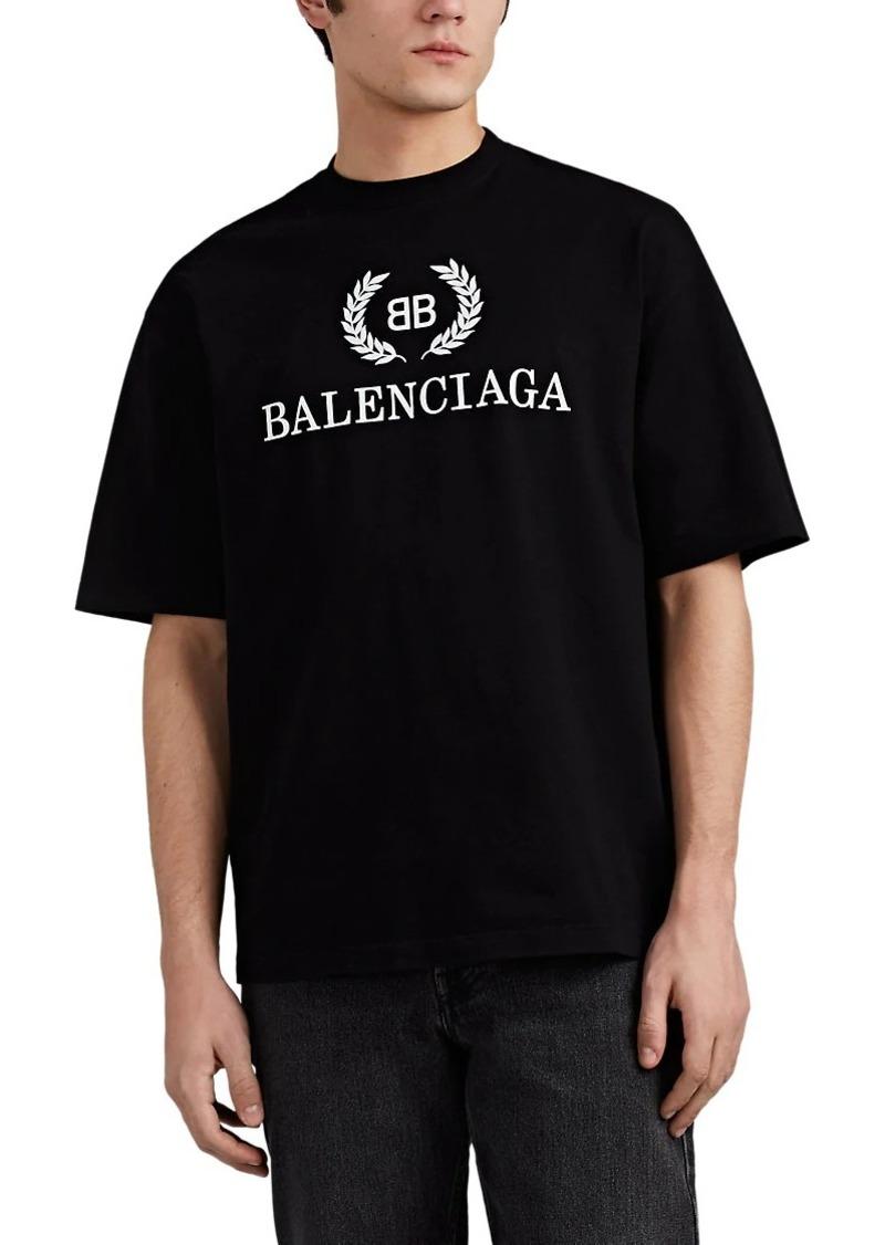 6d3c5b41ffa2 Balenciaga Balenciaga Men's BB-Logo Cotton T-Shirt | T Shirts