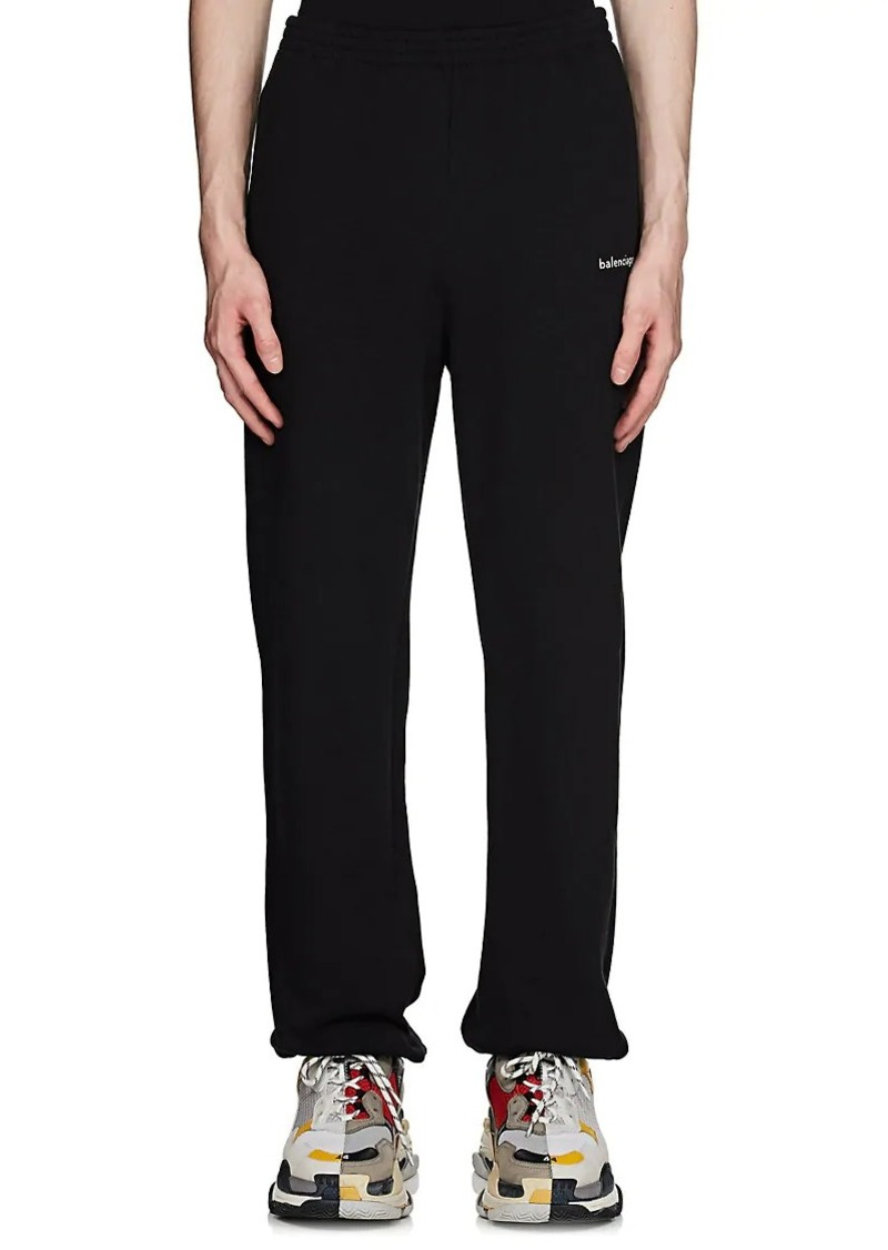 8ccb895031407a Balenciaga Balenciaga Men's Logo Cotton Fleece Oversized Sweatpants ...
