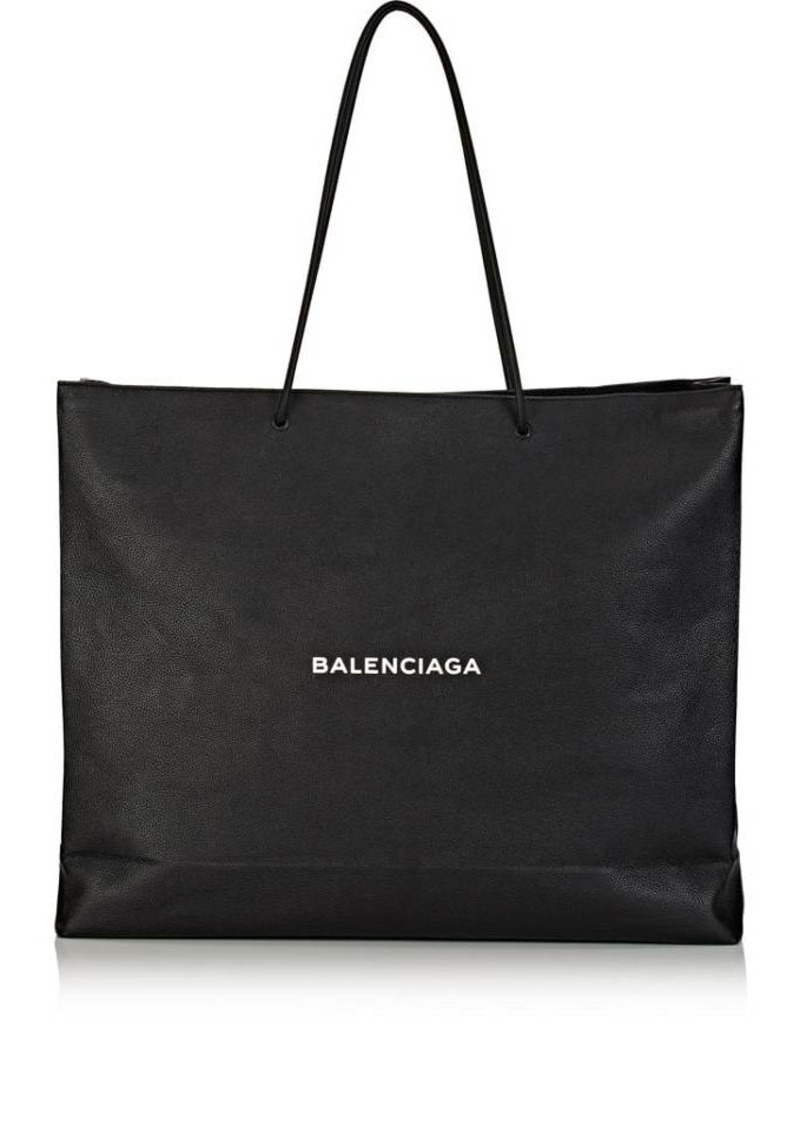 2fd55cb9fa3 Balenciaga Balenciaga Men's Logo Large Shopping Tote Bag - Black | Bags