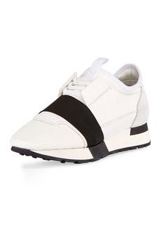 Balenciaga Mesh & Leather Sneakers