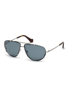 Balenciaga Metal Aviator Sunglasses
