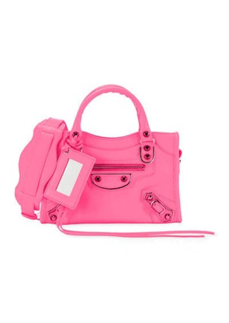 Balenciaga Metallic Edge Mini City AJ Shiny Leather Bag