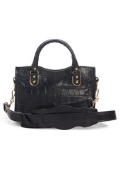 Balenciaga Metallic Edge Mini City Croc Embossed Leather Bag