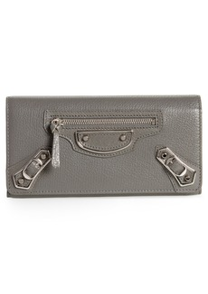 Balenciaga Metallic Edge Money Leather Wallet