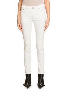 Balenciaga Mid-Rise Skinny Jeans  White