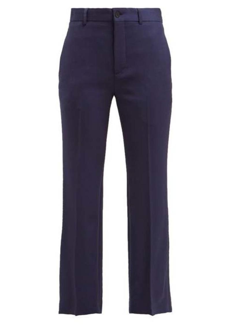 Balenciaga Mid-rise wool-blend trousers