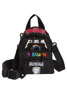 Balenciaga Mini Gamer Patch Crossbody Backpack