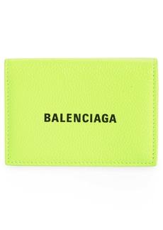 Balenciaga Mini Logo Leather Wallet