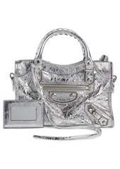 Balenciaga Mini Metallic Edge City Leather Tote