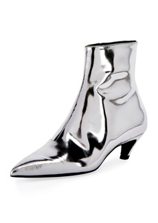 Balenciaga Mirrored Metallic Ankle Booties