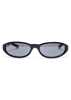 Balenciaga Neo mirrored oval-frame acetate sunglasses