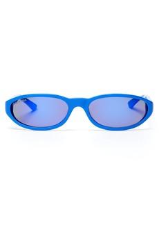 Balenciaga Mirrored oval-frame acetate sunglasses