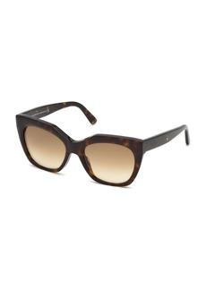 Balenciaga Mirrored Square Acetate Sunglasses