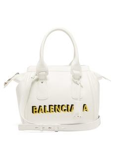 Balenciaga Monday logo-print leather bowling bag