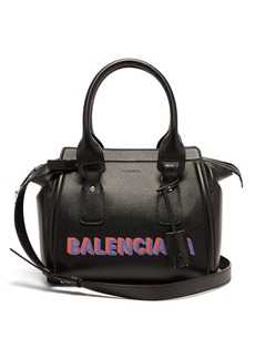 Balenciaga Monday logo-print leather bowling bag