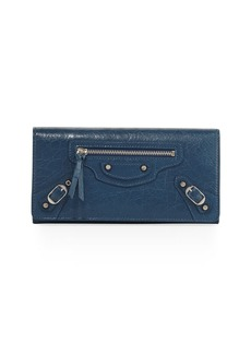 Balenciaga Money City Leather Clutch Bag
