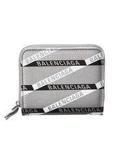 Balenciaga Monogram Everyday Leather Zip Around Wallet