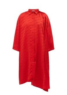 Balenciaga Monogram-jacquard silk shirtdress