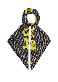 Balenciaga Monogram logo-print silk-twill scarf