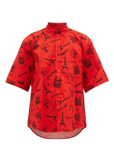 Balenciaga Monument-print cotton short-sleeve shirt