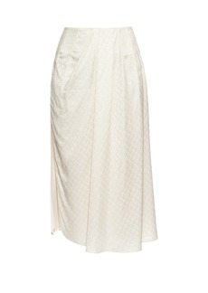 Balenciaga Multi-jacquard pleated skirt