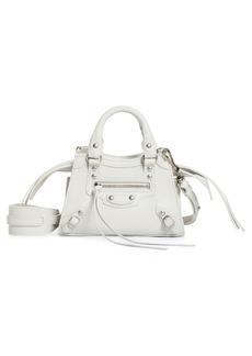 Balenciaga Nano Neo Classic City Leather Top Handle Bag - White