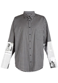 Balenciaga Newspaper sleeve-patch shirt