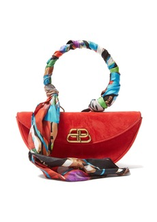 Balenciaga Opera suede clutch bag