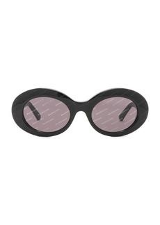 Balenciaga Oval Logomania Sunglasses