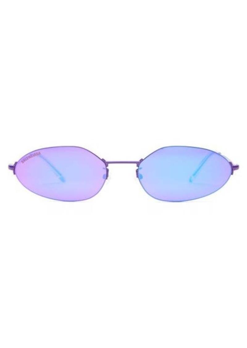 Balenciaga Oval reflective metal sunglasses