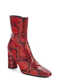 Balenciaga Oval Snake Embossed Bootie (Women)