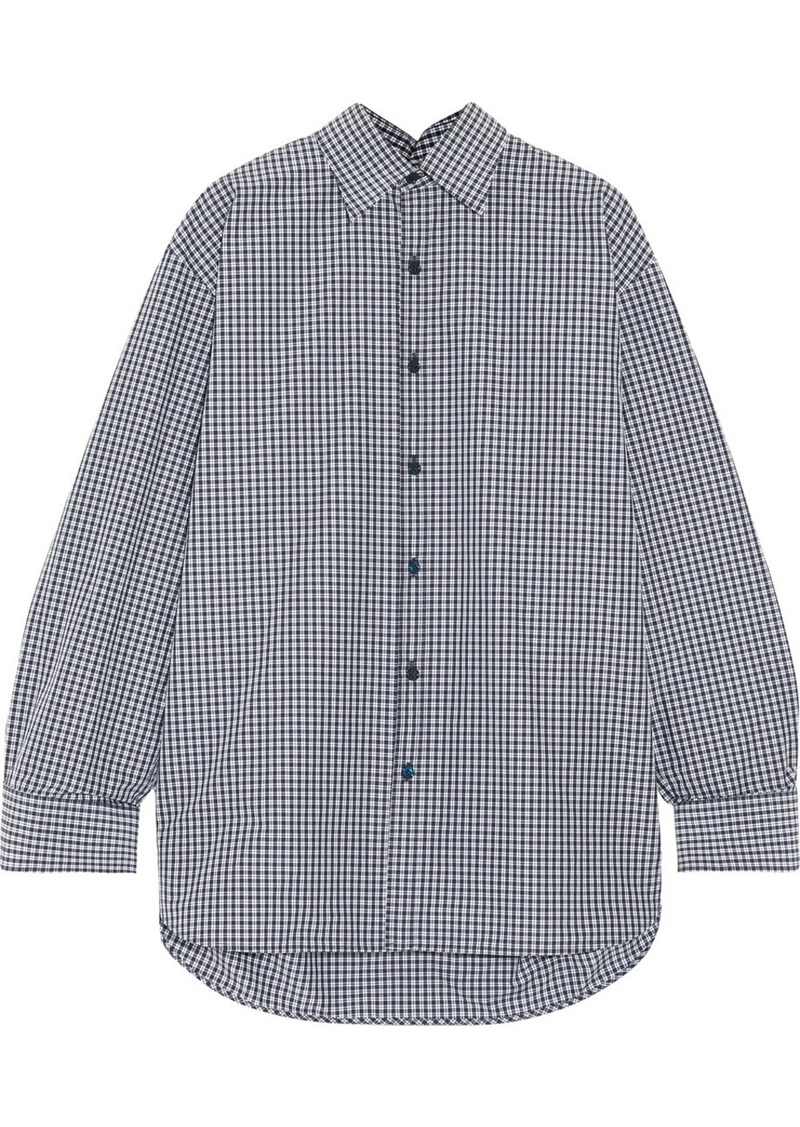 576b21387416 Balenciaga Balenciaga Oversized checked cotton-blend poplin shirt ...