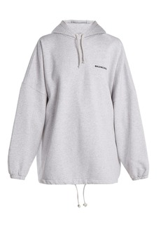 Balenciaga Oversized cotton-blend hooded sweatshirt