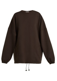 Balenciaga Oversized cotton-blend sweatshirt
