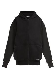 Balenciaga Oversized cotton hooded sweatshirt